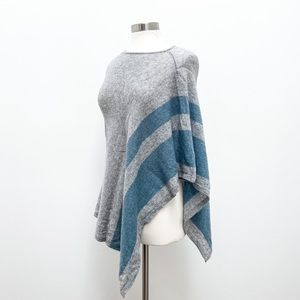 Cashmere Wool Poncho Sweater by Celeste One Size